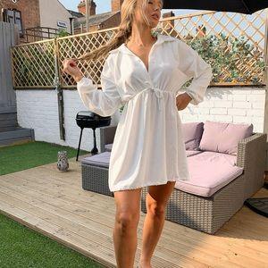 ASOS white button up dress